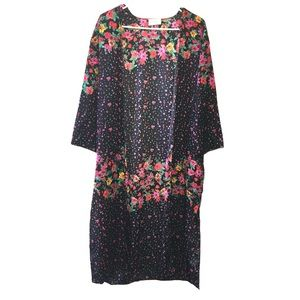 Everly Floral kaftan Shift Dress M